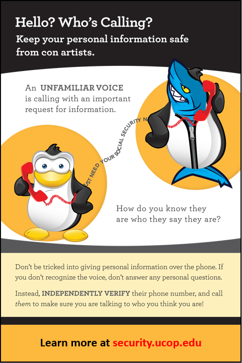 Flyer: Hello? Who's Calling? Protect yourself from phone phishing.