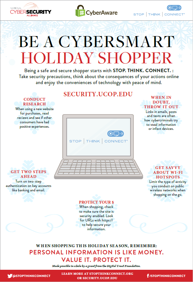 Flyer: Be a Cybersmart Holiday Shopper