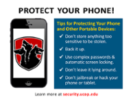 Poster: Protect Your Phone! Don't store anything too sensitive to be stolen. Back it up. Use complex passwords and auto screen locking. Don't leave it lying around. Don't jailbreak or hack it.