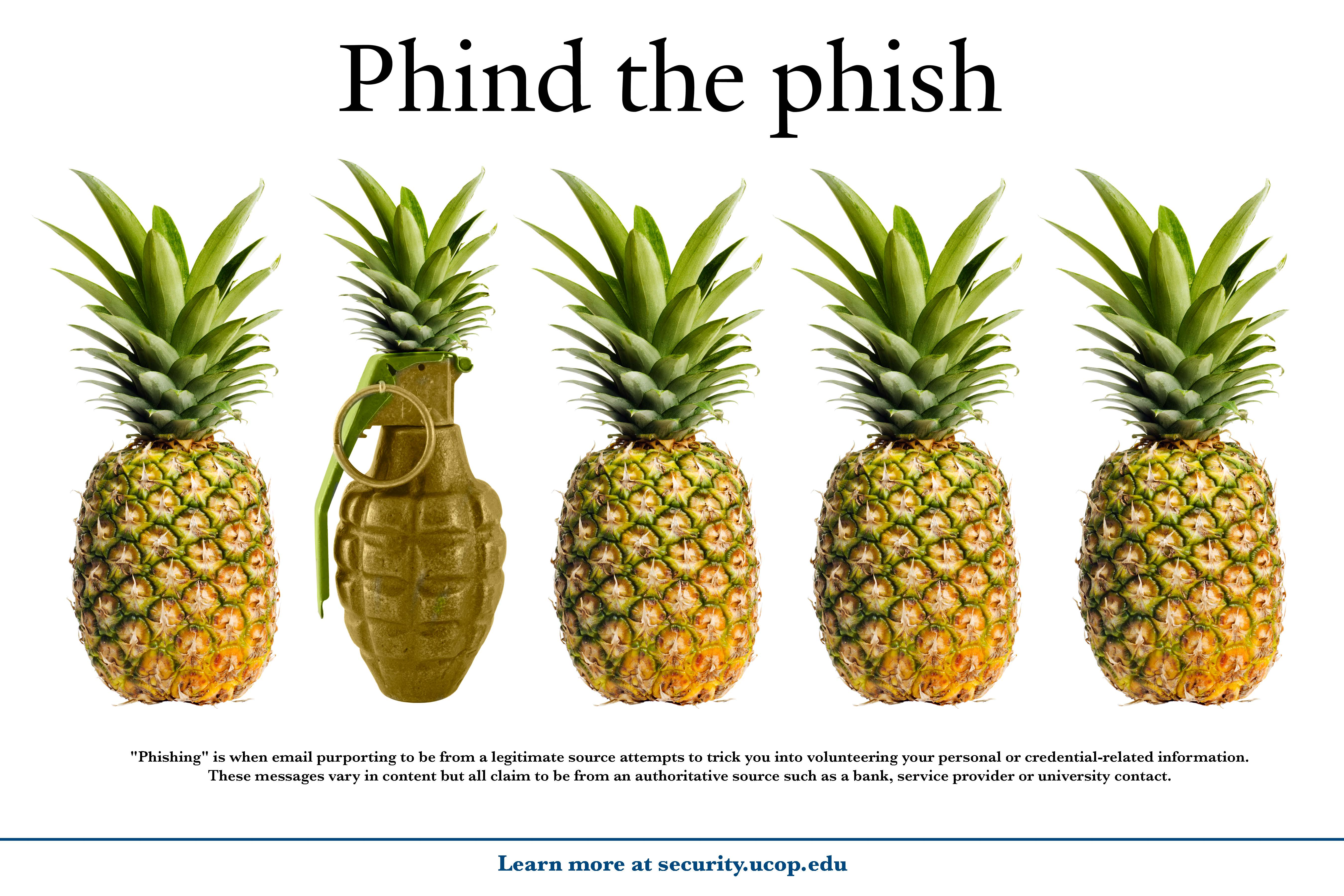 Phind the phish - pineapple-grenade