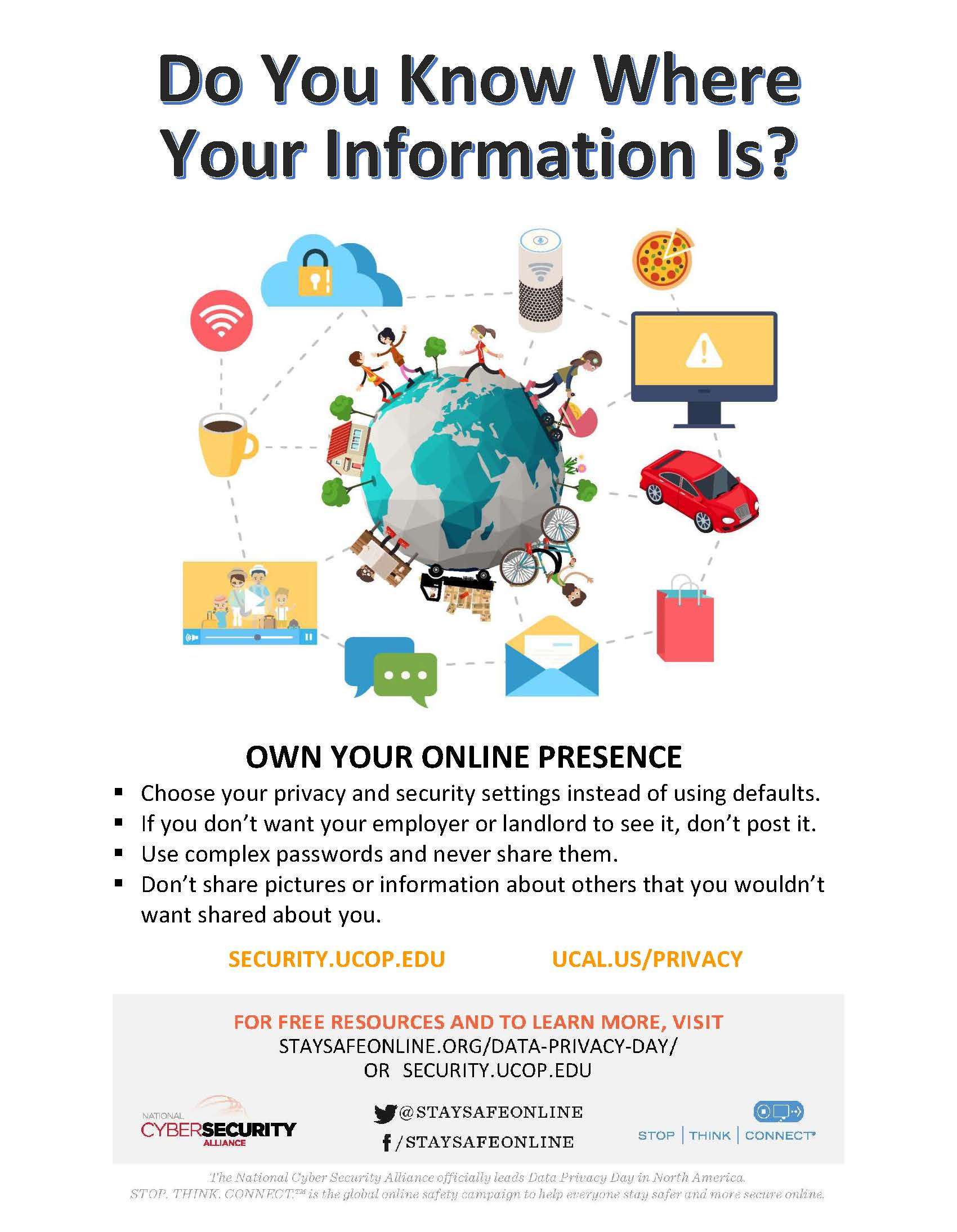 Flyer: Do you know where your information is? Own your online presence.